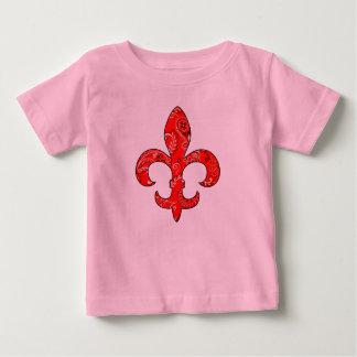 Fleur de lis Red Bandana infant t-shirt