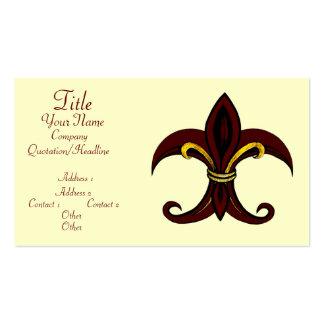 Fleur de Lis Red/Gold Business Cards