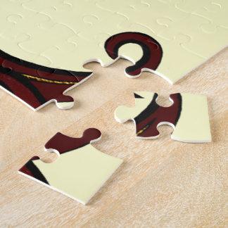 Fleur de Lis Red/Gold Jigsaw Puzzles