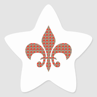 Fleur De Lis : Red Golden Dots ELEGANT gifts ALL Stickers