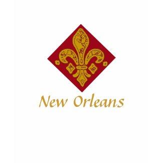 Fleur De Lis Red, New Orleans shirt