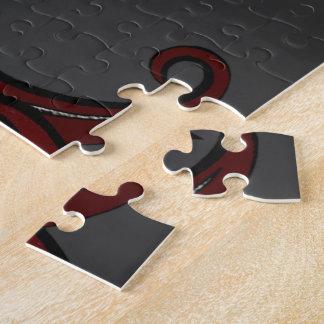 Fleur de Lis Red/Silver Jigsaw Puzzle