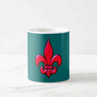 Fleur De Lis red talk Coffee Mug
