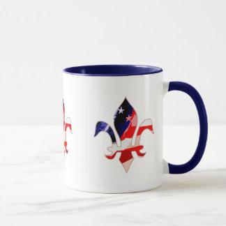 Fleur de lis Red White Blue -1 Mug
