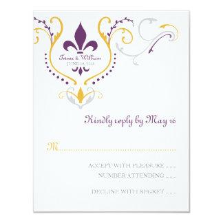 Fleur de Lis Reply Card
