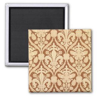 'Fleur-de-Lis', reproduction wallpaper designed by 2 Inch Square Magnet