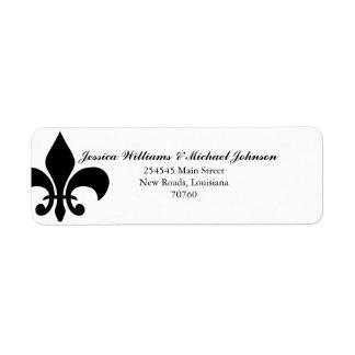 Fleur de Lis Return Address Label