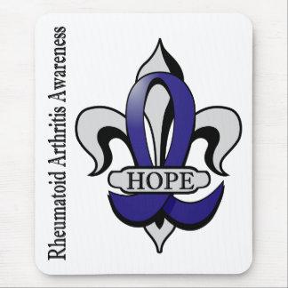 Fleur De Lis Rheumatoid Arthritis Hope Mousepads