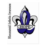 Fleur De Lis Rheumatoid Arthritis Hope Postcard
