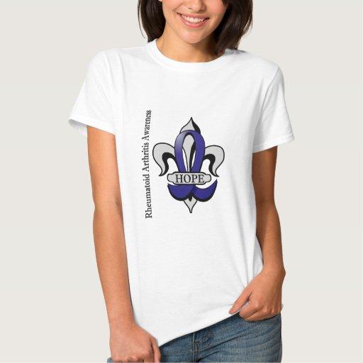 Fleur De Lis Rheumatoid Arthritis Hope Shirt