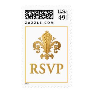 Fleur-de-lis RSVP Postage Stamp