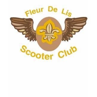 Fleur De Lis Scooter Club shirt