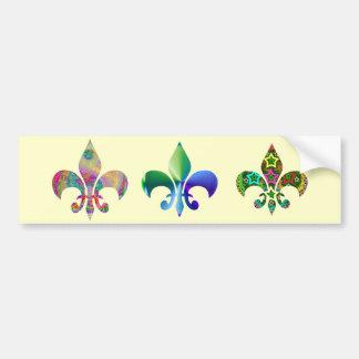 Fleur-de-Lis:  Signature Patterns by Naveen Bumper Sticker
