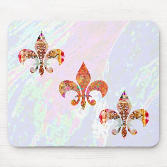 Fleur-de-Lis:  Signature Patterns by Naveen Mouse Pad