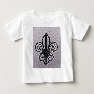 Fleur de lis sketch by jill, in lilac tint baby T-Shirt