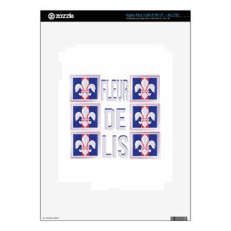 Fleur De Lis Skin For iPad 3