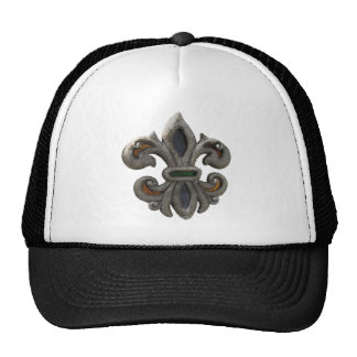 Fleur de lis Stained Glass Trucker Hat