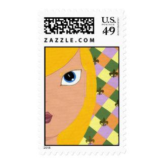 Fleur de Lis stamp