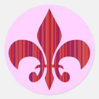 Fleur-de-Lis Round Stickers