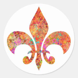 Fleur-de-Lis Round Sticker