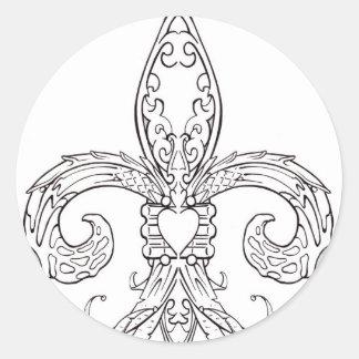 Fleur de lis Sticker