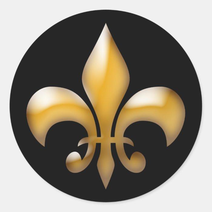 Fleur De Lis Stickers In Black And Gold Zazzle