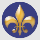 Fleur de Lis Stickers in Navy and Gold