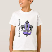 Fleur De Lis Stomach Cancer Hope T-Shirt