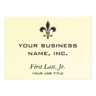 Fleur De Lis - Stripey Large Business Cards (Pack Of 100)