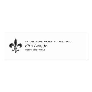 Fleur De Lis - Stripey Double-Sided Mini Business Cards (Pack Of 20)
