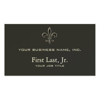 Fleur De Lis - Stripey Double-Sided Standard Business Cards (Pack Of 100)