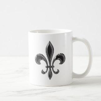 Fleur De Lis - Stripey Coffee Mug