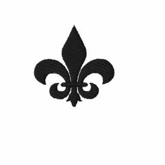 Fleur De Lis Symbol Embroidered Hoodies