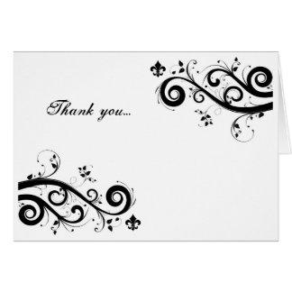 fleur de lis thank you card
