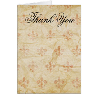 Fleur de Lis Thank You Card