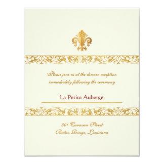 Fleur-de-lis Themed Reception Card