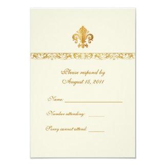 Fleur-de-lis Themed RSVP Card