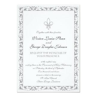 Fleur-de-lis Themed Wedding Card