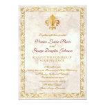Fleur-de-lis Themed Wedding Custom Invites
