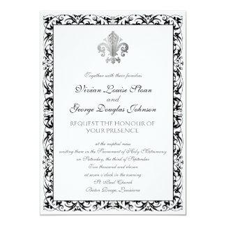 Fleur-de-lis Themed Wedding Personalized Invitation