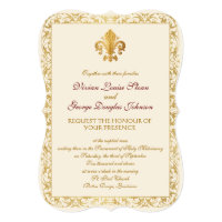 Fleur-de-lis Themed Wedding Invitation