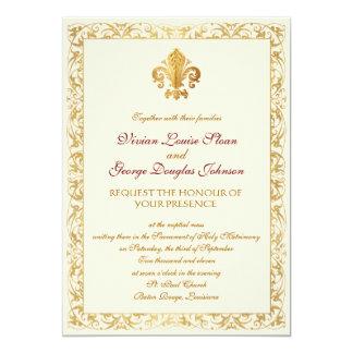 Fleur-de-lis Themed Wedding Personalized Announcements