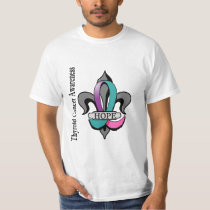 Fleur De Lis Thyroid Cancer Hope T-Shirt