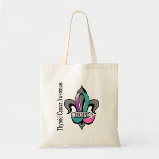Fleur De Lis Thyroid Cancer Hope Tote Bag