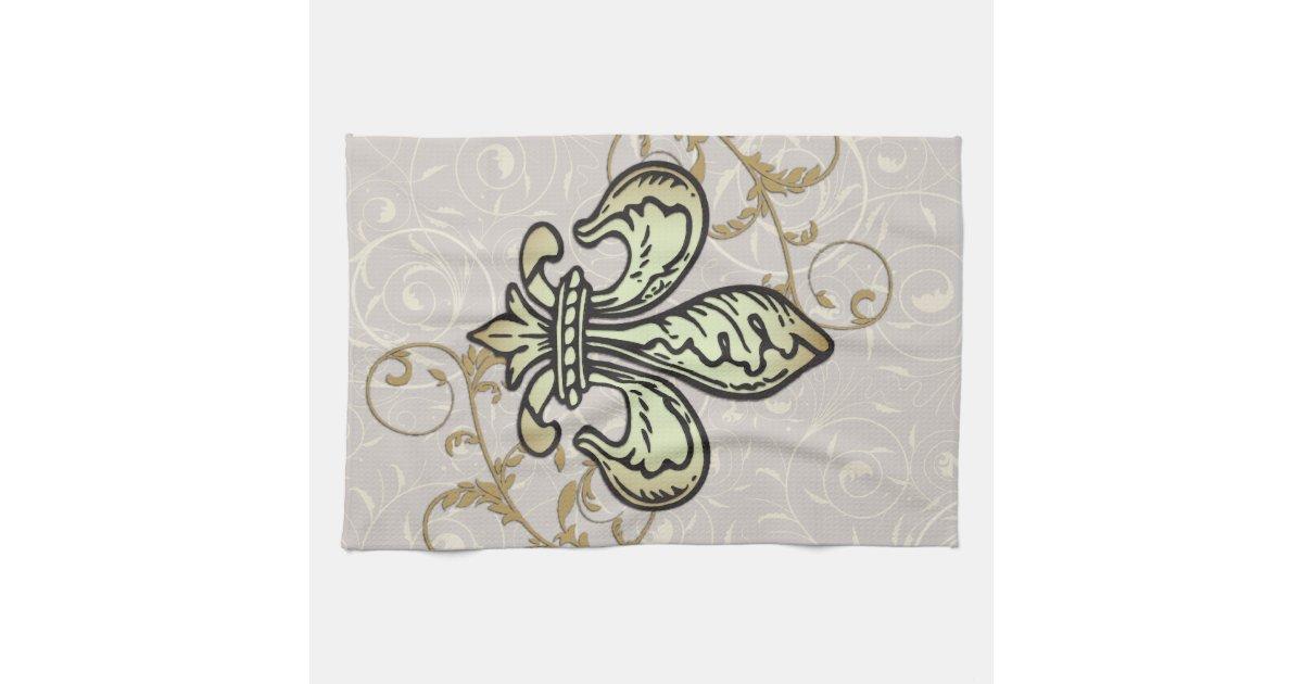 Top 28 fleur de lis towels fleur de lis dish towel set of three brown fleur de lis towels - Fleur de lis bath towels ...