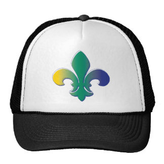 Fleur De Lis tri colored Trucker Hat