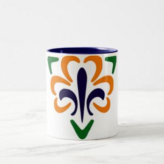 Fleur De Lis Triangle 2 Mugs
