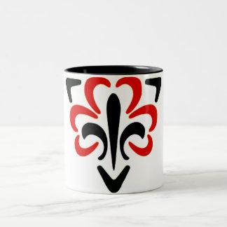 Fleur De Lis Triangle 3 Mugs