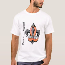 Fleur De Lis Uterine Cancer Hope T-Shirt