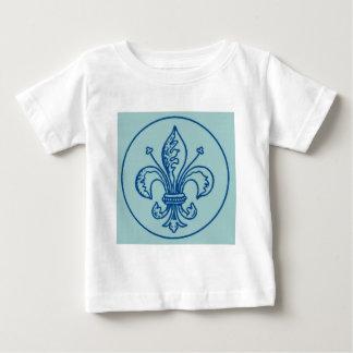 FLEUR DE LIS VINTAGE PRINT in Blue Infant T-shirt